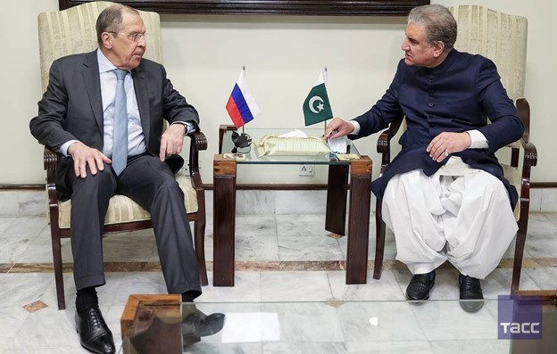 Lavrov meets with Pakistani Foreign Minister Qoreishi (Source: Tass.ru)