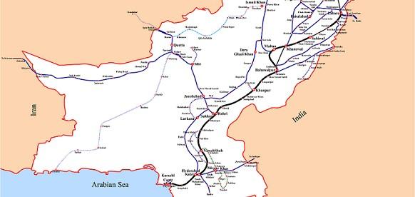 Ruta contemplada del flujo Pakistán (Fuente: Construction.ru)
