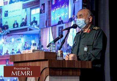 El comandante del CGRI Hossein Salami. Fuente: Tasnim, Irán, 8 de marzo, 2021