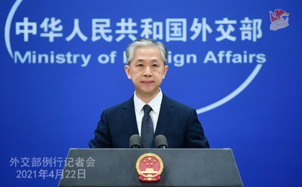 Portavoz de la cancillería de China Wang Wenbin (Fuente: Fmprc.gov.cn)