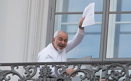Image result for Javad zarif balkon