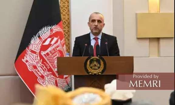 Amrullah Saleh, de jure prezydent Afganistanu.
